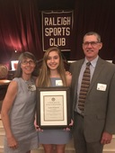 Raleigh Sports Club Recognizes Cynthia Woodward '19, Coach Alix Charles