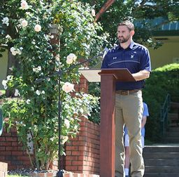Ryan Barry '01 Encourages Students to Lead, Demonstrate Character at Memorial Day Gathering
