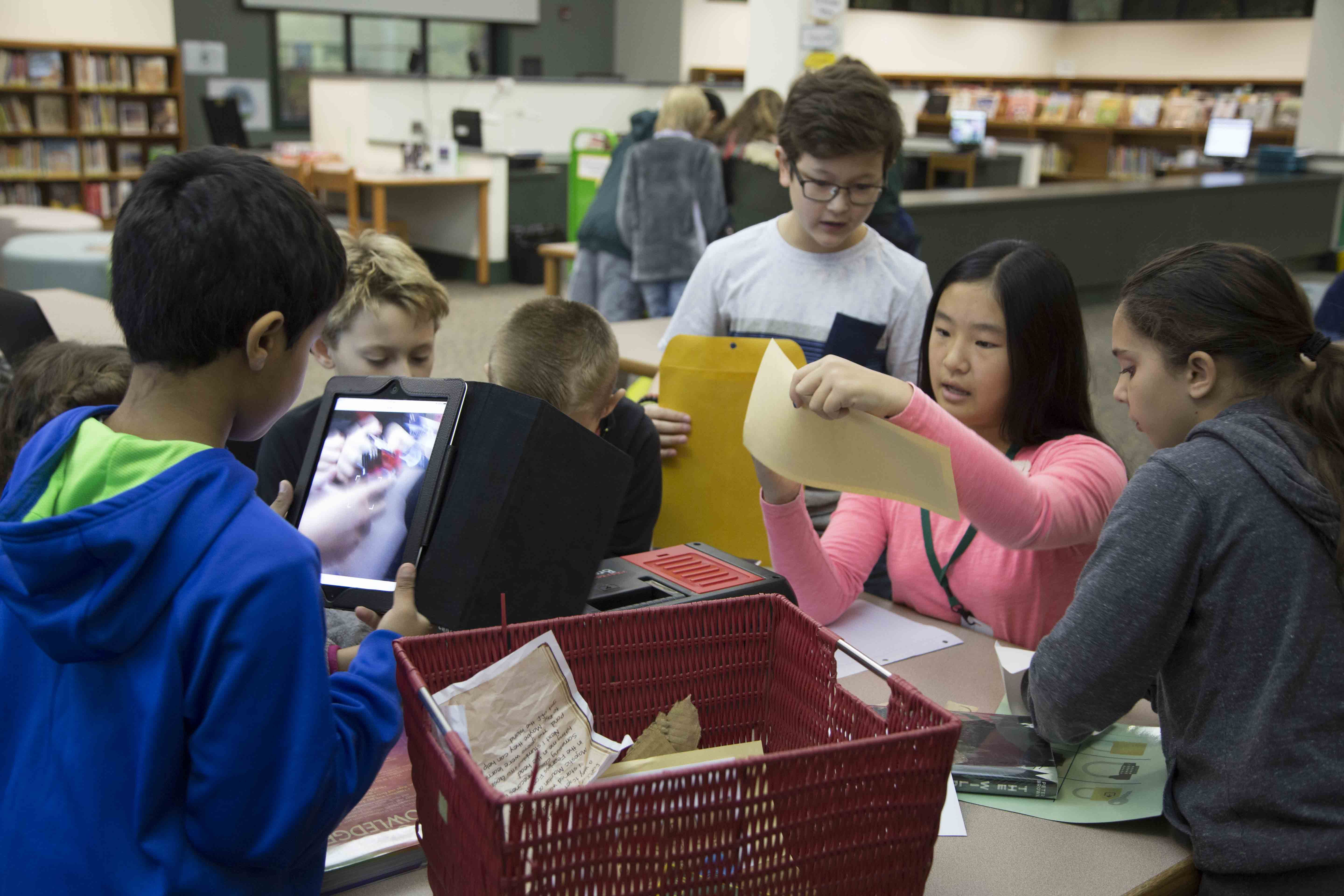 Students Break Out of the Box with Interactive Library Challenge